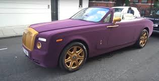 roll royce drophead surprisingly it u0027s not a rapper driving this purple velvet rolls