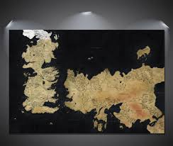Map Westeros Game Of Thrones Poster Ebay