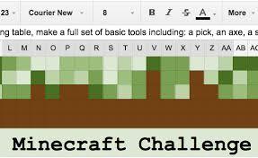 Challenge Minecraft Progress Bar In Sheets Minecraft Exle Tech