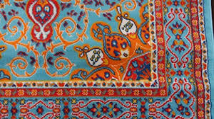 traditional isfahan persian light blue navy white orange yellow