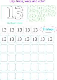 9 best images of printable writing numbers 13 printable number