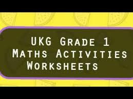 maths grade 1 activities worksheets ukg cbse maths youtube