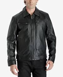 Boys Leather Bomber Jacket Men U0027s Leather Jackets U0026 Men U0027s Leather Coats Macy U0027s