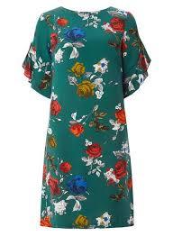 green printed dresses animal print dresses dorothy perkins