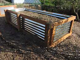 Raised Garden Bed With Bench Seating How To Galvanized Garden Beds U2013 Blueberry Hill Crafting