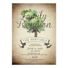 vintage family reunion invitations u0026 announcements zazzle