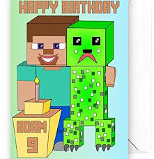 personalised birthday card inspired by video games minecraft a5