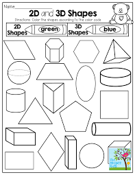 2 d and 3 d shapes color by the code tons of fun printables