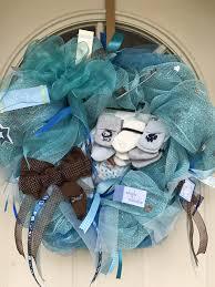 clearance baby boy deco mesh wreath handmade baby shower gift