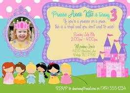 free disney princess birthday invitation template