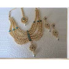 wedding jewellery sets gold indian bridal jewellery set 22k gold plated turqoise at rs 8500