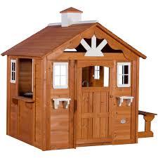 backyard discovery summer cottage wooden cedar playhouse walmart com