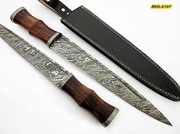 reg 212 custom handmade damascus steel 17 inches scottish dirk main