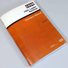 j i case 780c loader backhoe operators owners manual controls