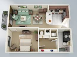Small 1 Bedroom House Plans by Home Design Likeable One Bedroom Apartments Floor Plans With