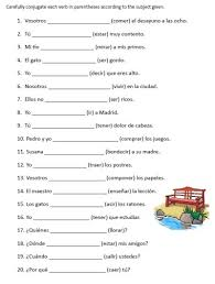 worksheets on present perfect spanish google search spanish 3
