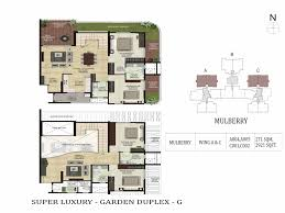 Garden Apartment Floor Plans Duplexes For Sale In Binnypet Bangalore Master Plan Shapoorji