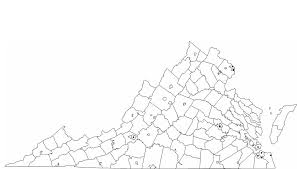 Map Of Virginia Cities Blank Virginia City Map Free Download