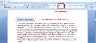 daftar isi cara membuat daftar isi otomatis di microsoft word u2013 tutorial