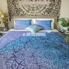 bohemian bed sets peacock blue yellow and red neon color bohemian