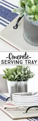 concrete diy industrial inspired serving tray live laugh rowe