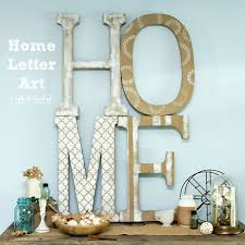 home art tutorial extra large diy letter decor paper mache home art crafts unleashed