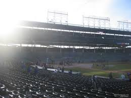 Chicago Cubs Seat Map by Wrigley Field Section 134 Chicago Cubs Rateyourseats Com