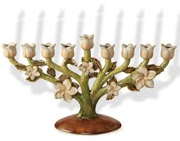 pewter menorah hanukkah gifts flowers hanukkah menorah pewter enamel finish