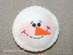 fuzzy felt snowman ornament fuzzy felt felt snowman and
