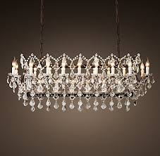 Rectangular Chandelier With Crystals Chandelier Collections Rh