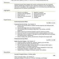 template blank security guard resume example scenic armed security