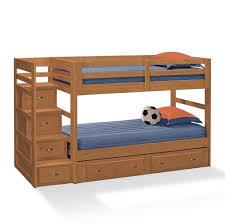 Bunk Bed With Storage Bedroom Wooden Bunk Beds With Stairs And Storage Bunk Beds