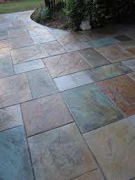 stamped concrete patio designs colored stamped concrete patio
