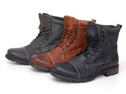 buy boots uae polar fox mens combat boots faux leather lace up shoes