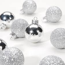 mini silver ornaments 1 inch ornament balls