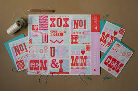 letter press tear letterpress valentines six perforated cards igloo