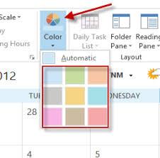change calendar layout outlook 2013 outlook change the calendar color