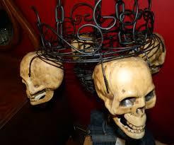 professional halloween props diy candlelit skull hanging chandelier halloween prop 8 steps