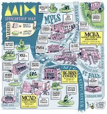 Map Of Minneapolis Kevin Cannon Cartooning U0026 Illustration