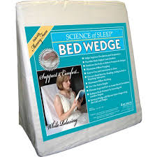 bed wedge pillow science of sleep memory foam bed wedge pillow walmart com