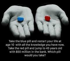 Blue Pill Red Pill Meme - red vs blue which pill would you swallow the manofesto