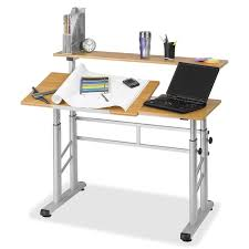 split level style safco 3965mo height adjustable split level drafting table