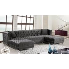 Gray Leather Sectional Sofas Grey Sectional Sofas Joss