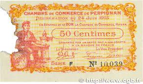 chambre de commerce de perpignan 50 centimes regionalism and miscellaneous perpignan 1915 jp