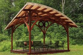 outdoor pavilion cost shelter plans cedar backyard ideas screened