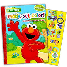 amazon sesame street ready color coloring activity