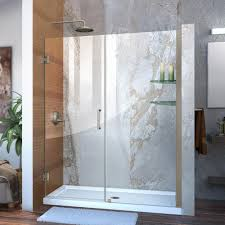 23 Shower Door Dreamline Unidoor 58 In To 59 In X 72 In Frameless Hinged Pivot