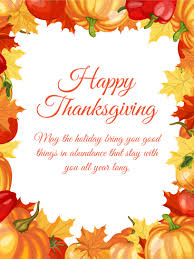 vibrant maple leaves happy thanksgiving card birthday greeting