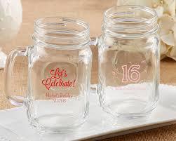 Mason Jar Party Favors Personalized 16 Oz Mason Jar Mug Birthday Party Favors By Kate