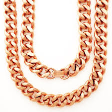 copper jewelry necklace images Custom size solid copper chain necklace heavy duty cuban curb jpg